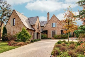 Hinsdale, IL French Country house after adding new sky. Prices, scheduling and policies.