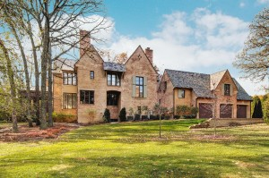 Hinsdale, IL French Country house after adding new sky