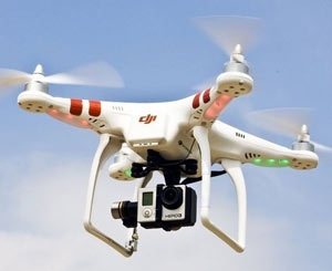 drone and video camera