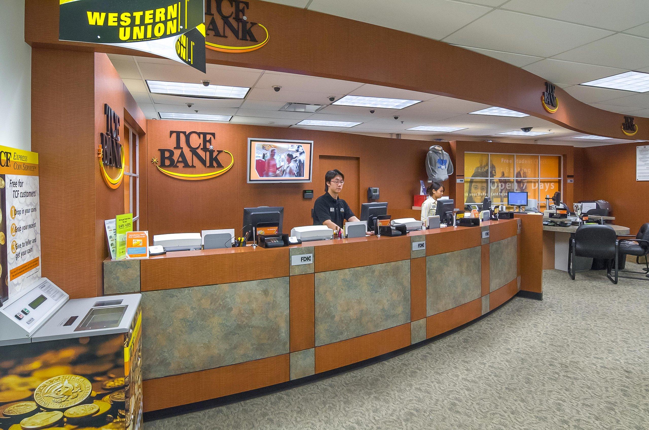 TCF Bank lobby
