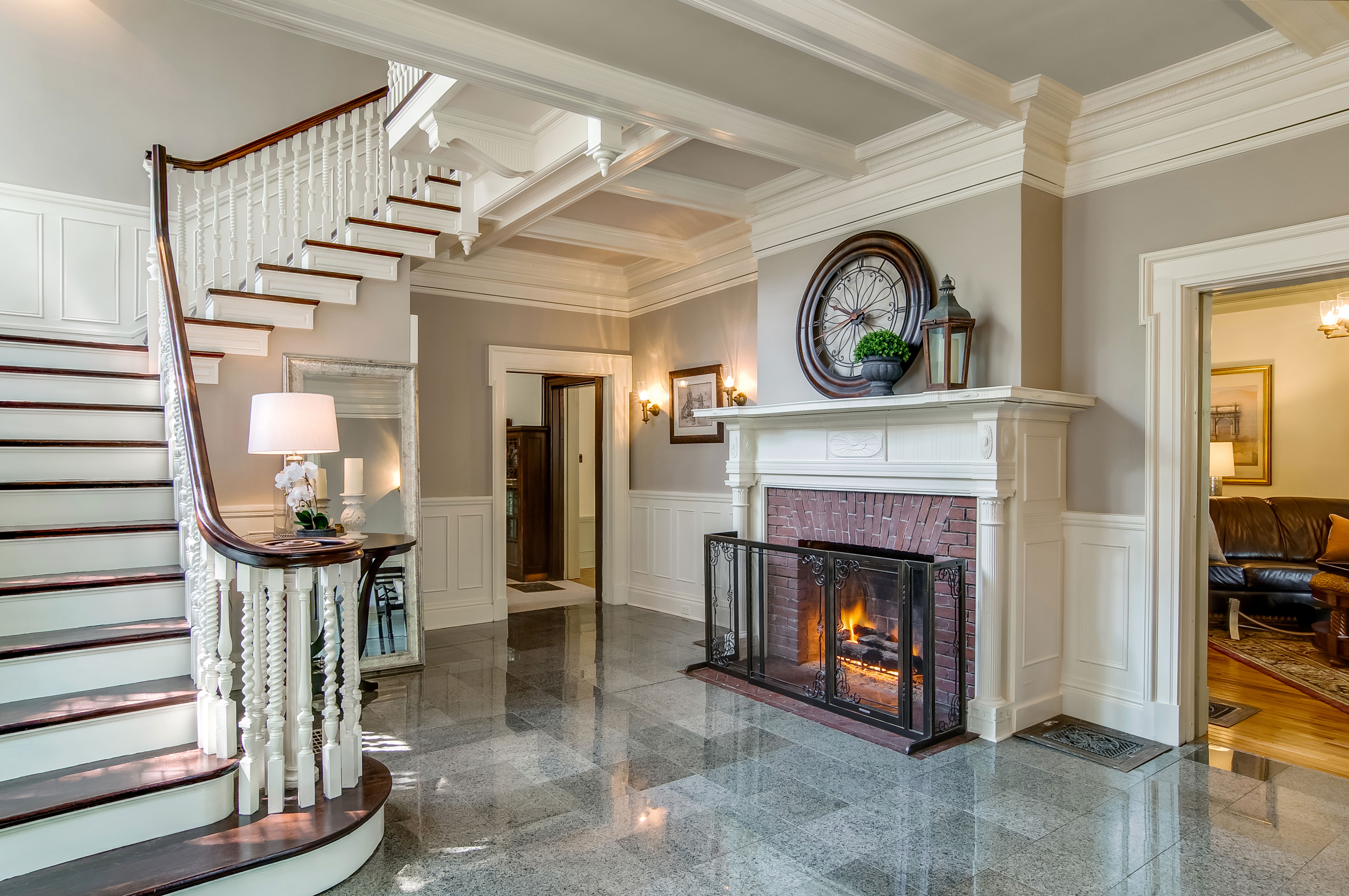 Victorian Foyer Jobs : Restored victorian aurora illinois larry fields photography