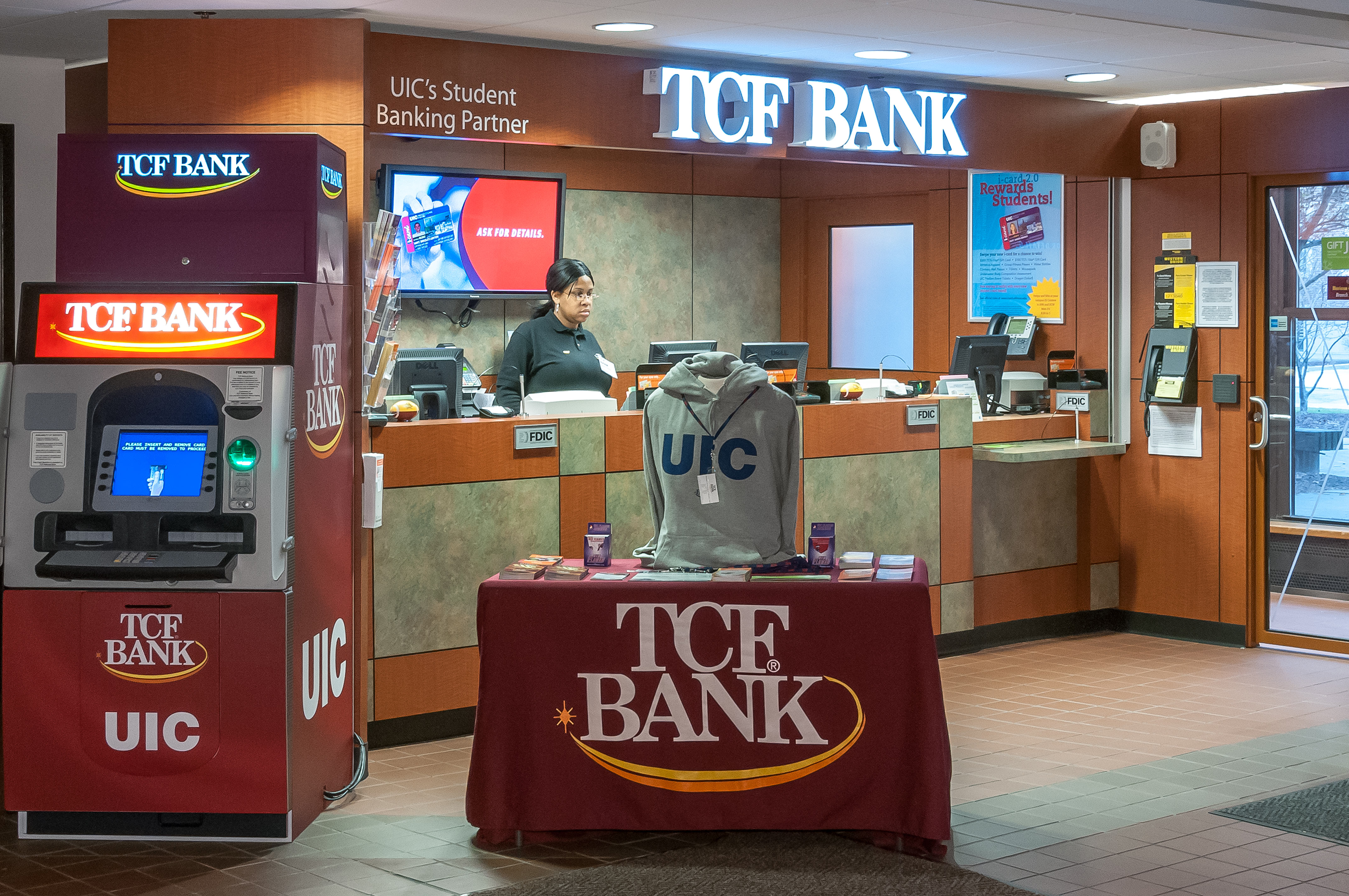 TCF branch at NIC campus. Architectural, business photography prices.