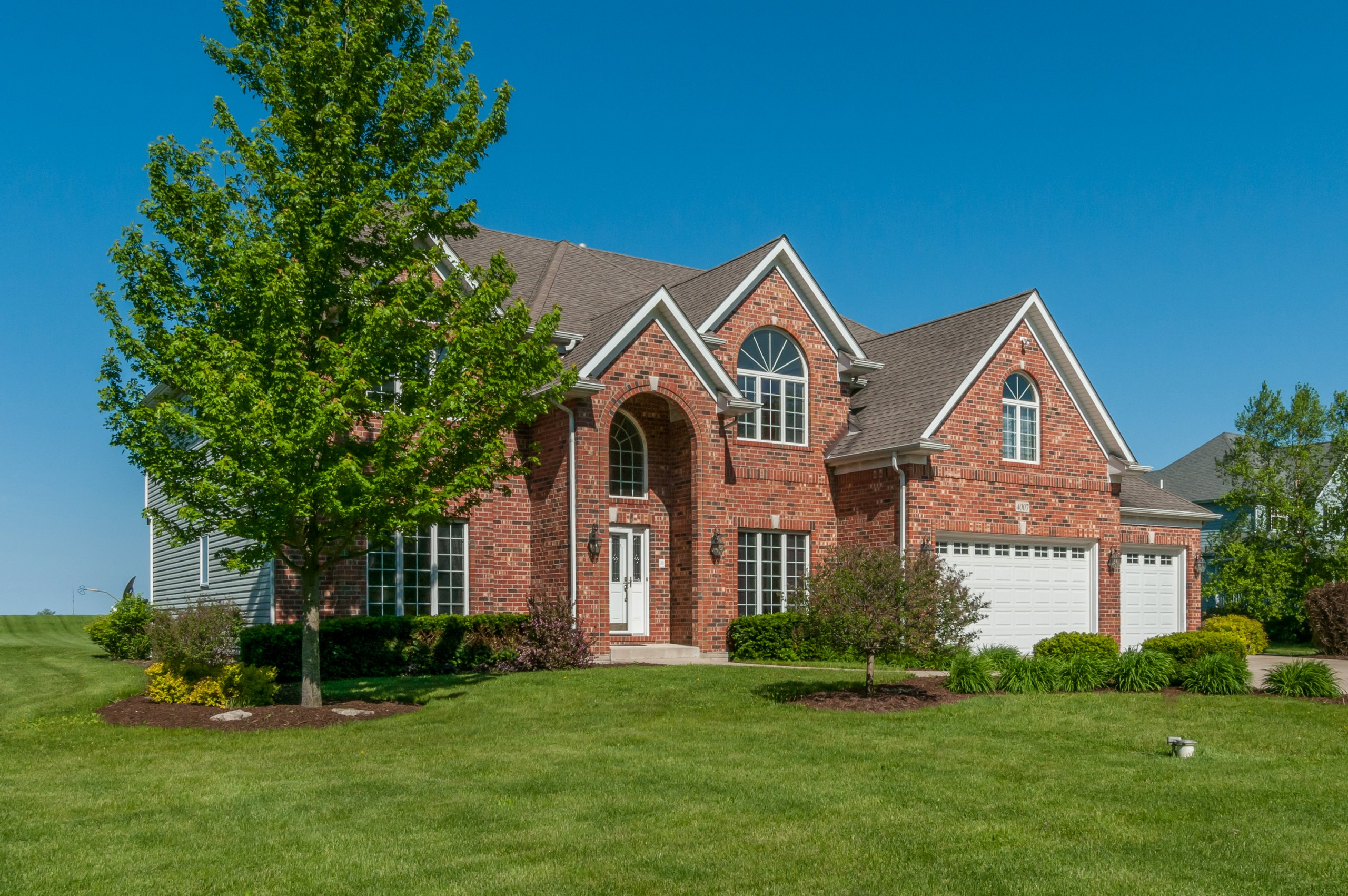 Upscale brick estate home in Somonauk, Illinois