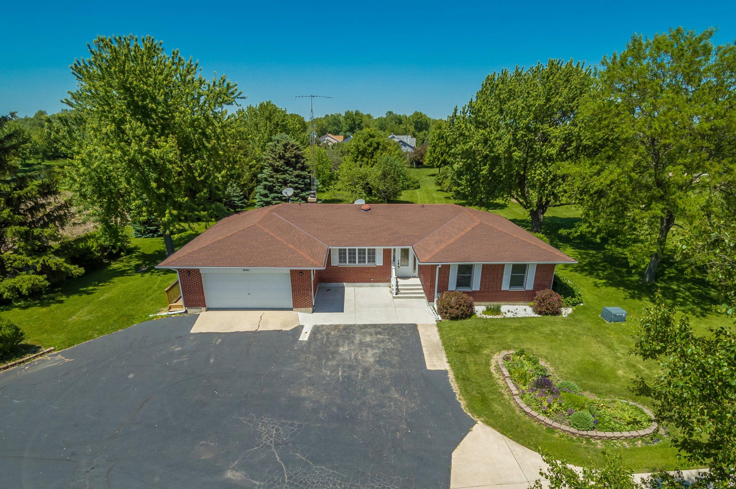 Drone aerial 18 of 7643 E. Sandwich Rd., Hinckley, Illinois