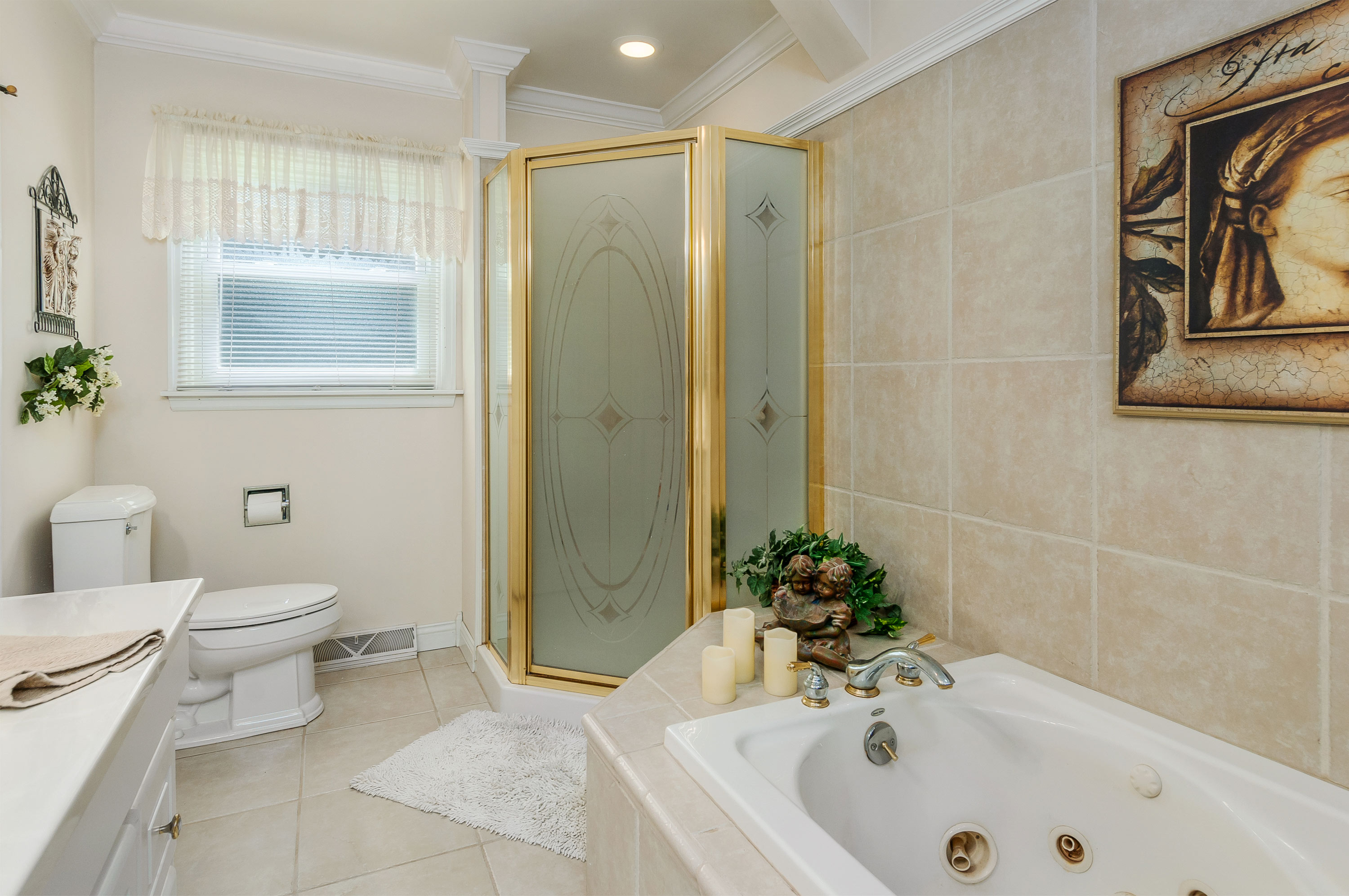 Master bathroom at 369 Holiday Dr., Somonauk, IL