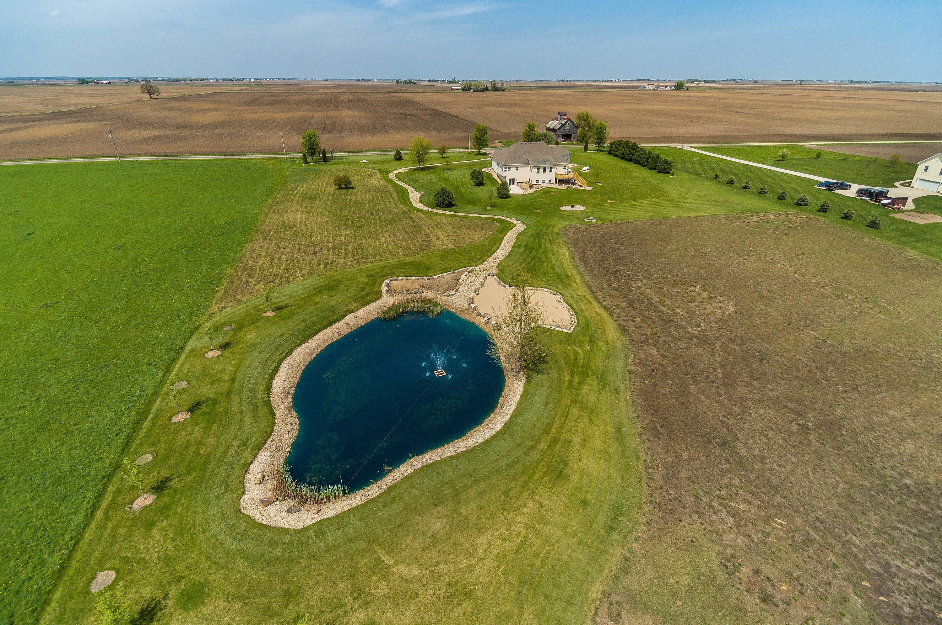 Northern Illinois drone aerial view of 2012 N. 4750th Rd., Leland, Illinois