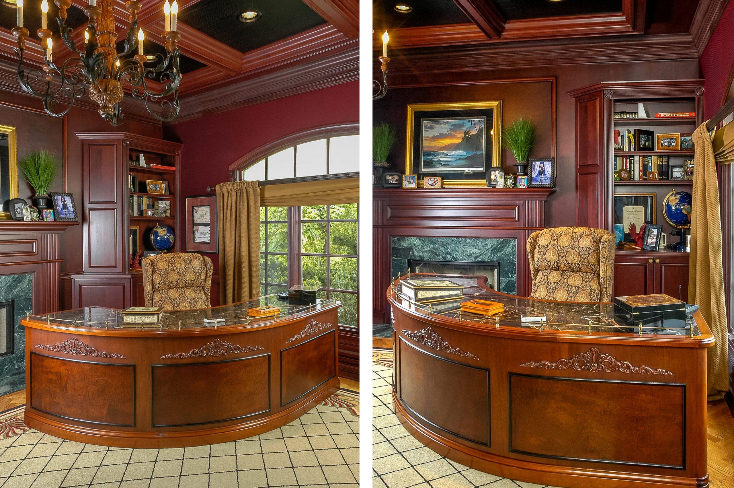 Chicago north shore elegant walnut burl office composite