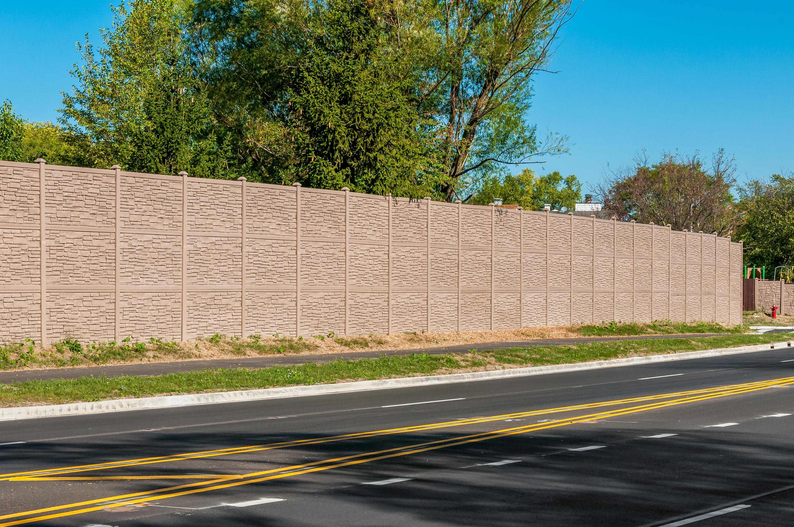 12' Vinyl Fence for IDOT project in Aurora, Illinois
